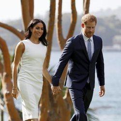 El Príncipe Harry y Meghan Markle en Admiralty House