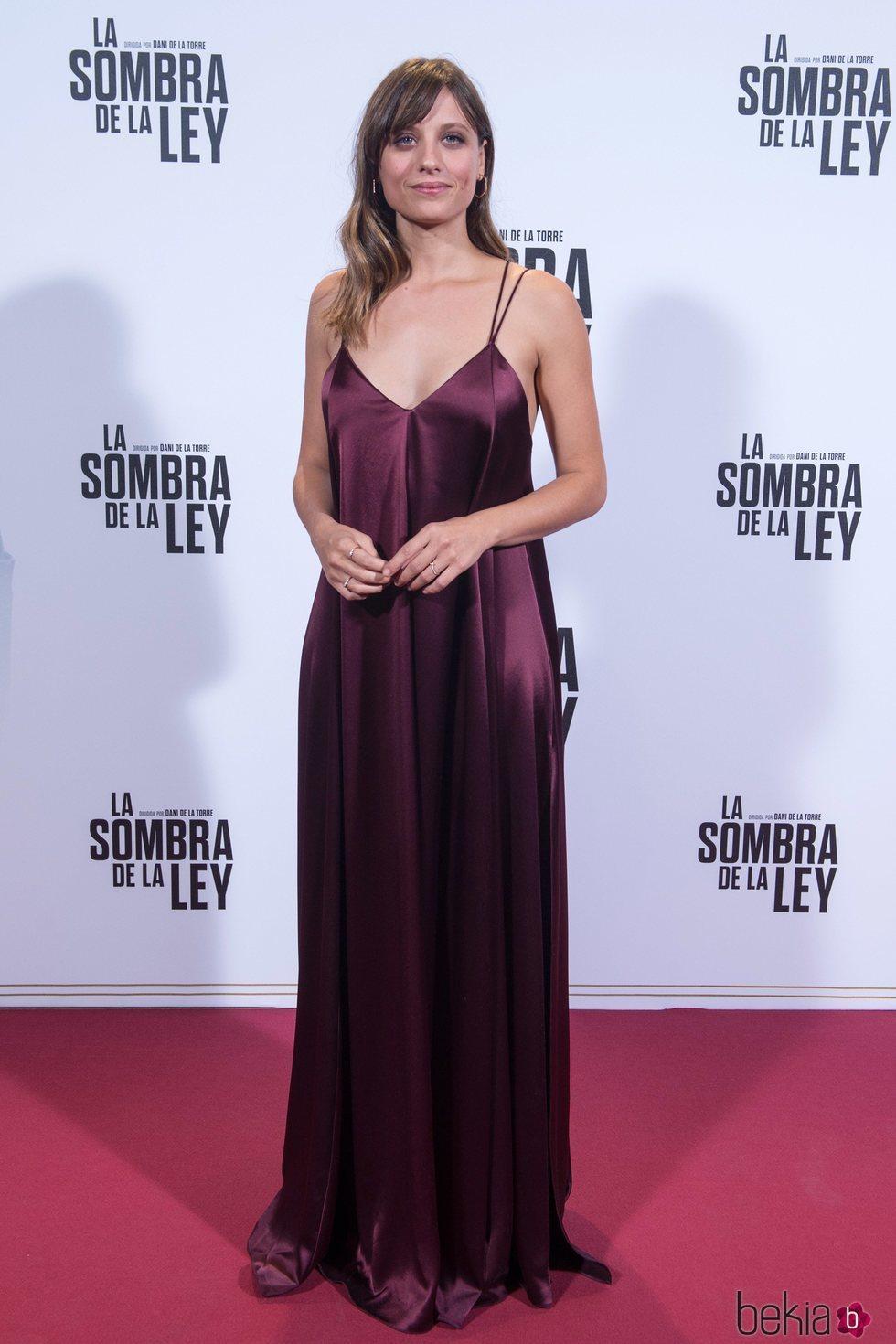 Michelle Jenner en el estreno de 'La sombra de la ley' en Madrid