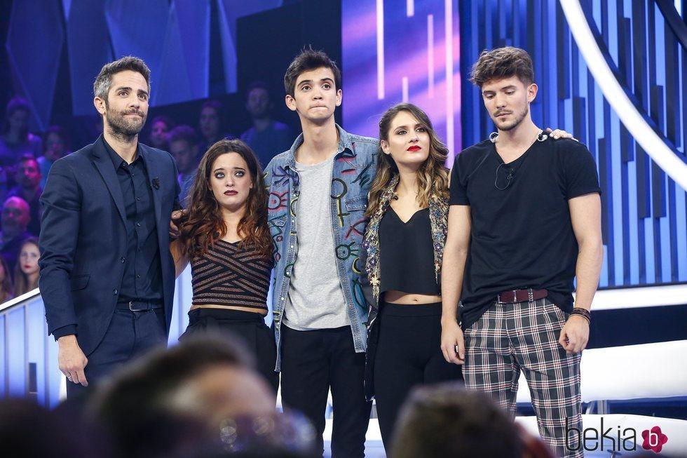Carlos Right, Dave, Sabela y Noelia en la Gala 4 de 'OT 2018'