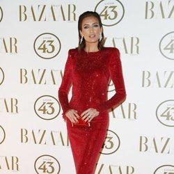 Nieves Álvarez en la alfombra roja de los Premios Harper's Bazaar Actitud 43 2018
