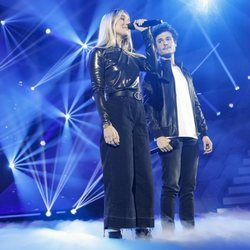 María y Miki durante su actuación en la Gala 4 de 'OT 2018'