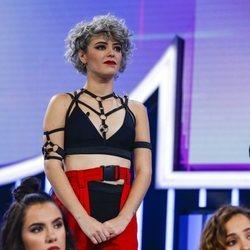 Alba Reche durante la valoración del jurado en la Gala 4 de 'OT 2018'