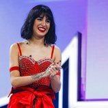 Natalia durante la valoración del jurado en la Gala 4 de 'OT 2018'