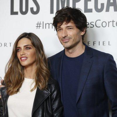 Sara Carbonero y Andrés Velencoso en la presentación de la nueva campaña de Cortefiel