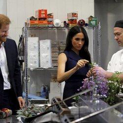 El Príncipe Harry y Meghan Markle en Charcoal Lane en Melbourne