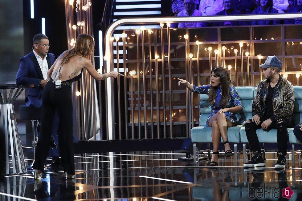 Techi discutiendo con Chabelita Pantoja durante la sexta gala de 'GH VIP 6'