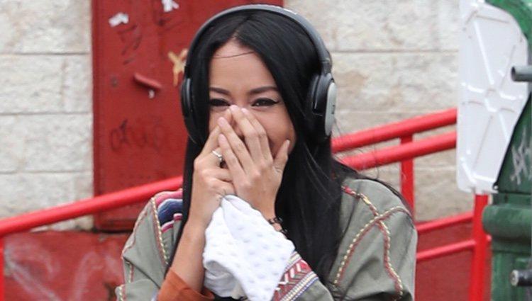 Aurah Ruiz yendo a su citación judicial con Jesé Rodríguez por lo que ha salido 'GH VIP 6'