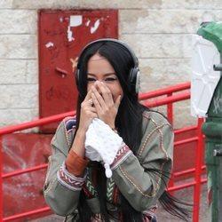 Aurah Ruiz a su llegada al juicio contra Jesé Rodríguez