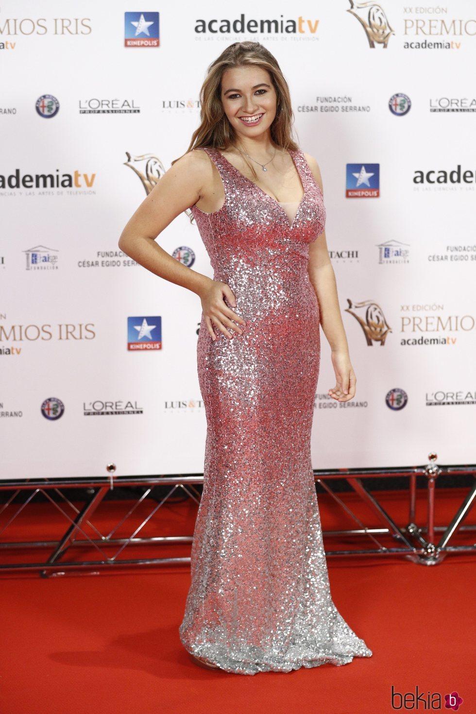 Carlota Boza en los Premios Iris 2018