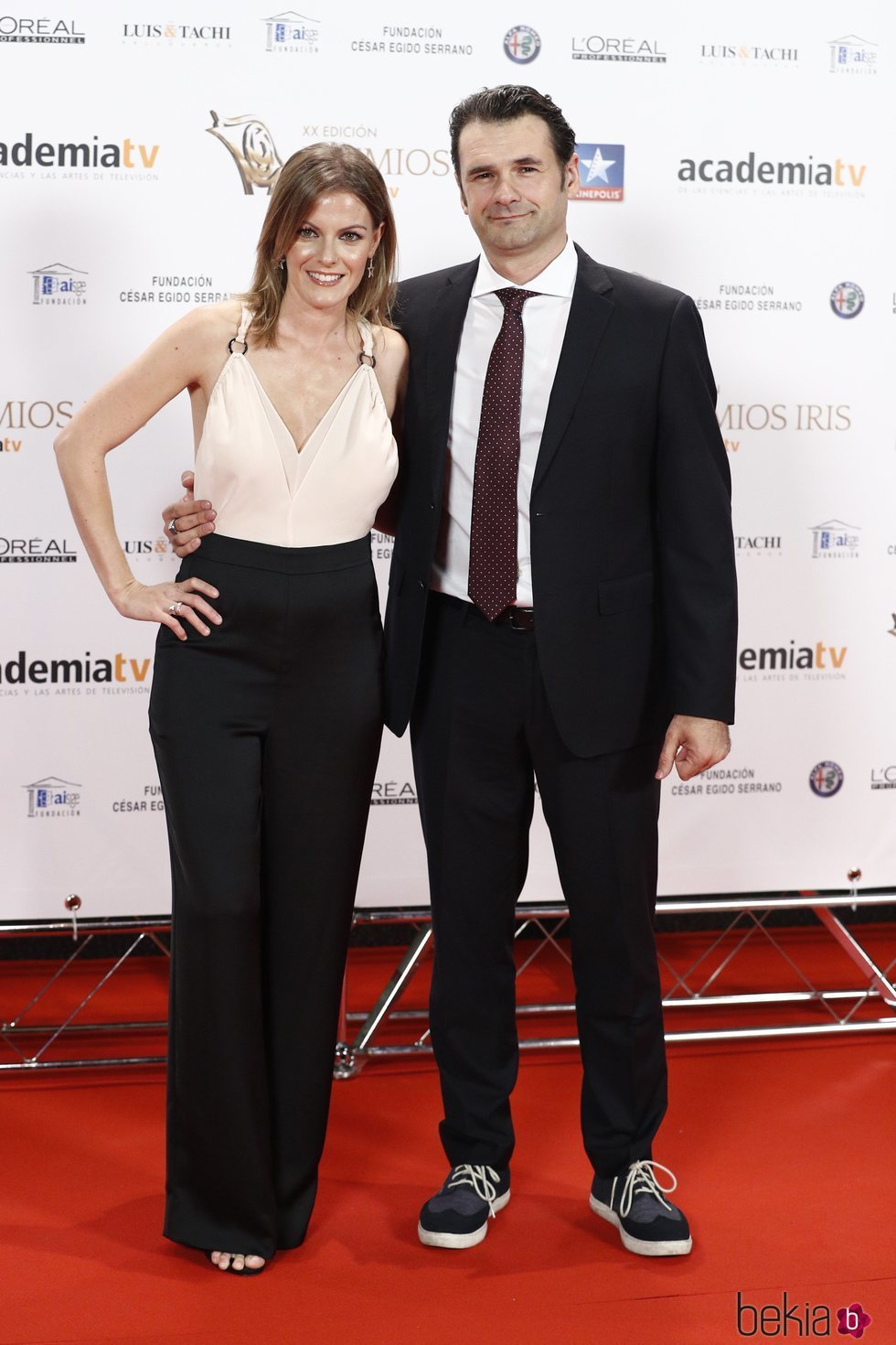 Iñaki López y Andrea Ropero en los Premios Iris 2018