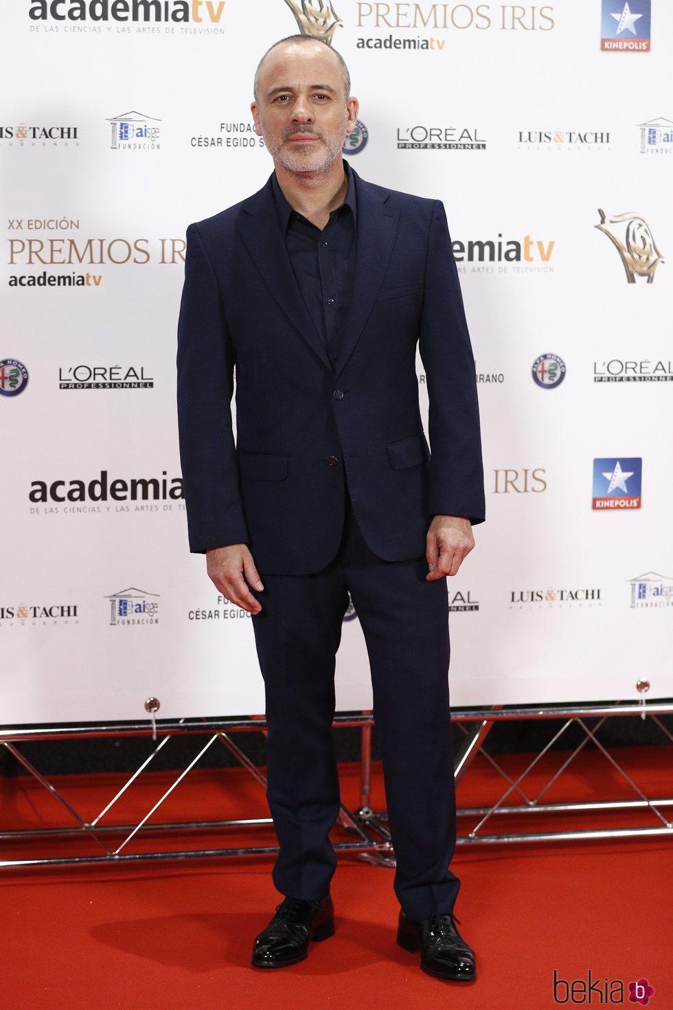 Javier Guitiérrez en los Premios Iris 2018