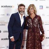 Fernando Tejero y Eva Isanta en los Premios Iris 2018