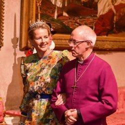 Mabel de Holanda y el Arzobispo de Canterbury en la cena de Estado a Guillermo Alejandro y Máxima de Holanda