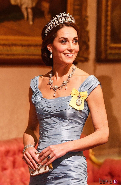 Kate Middleton en la cena de Estado a Guillermo Alejandro y Máxima de Holanda