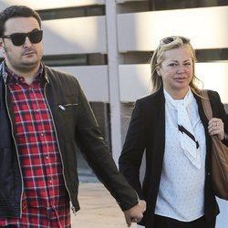 Belén Esteban y Miguel Marco a su llegada a un juicio en Madrid