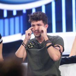 Carlos Right tras salvarse de su nominación en la Gala 5 de 'OT 2018'