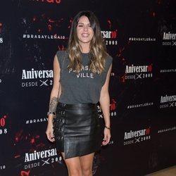 Laura Matamoros en el aniversario del restaurante Brasayleña