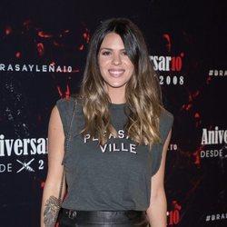 Laura Matamoros, sonriente en el aniversario de Brasayleña