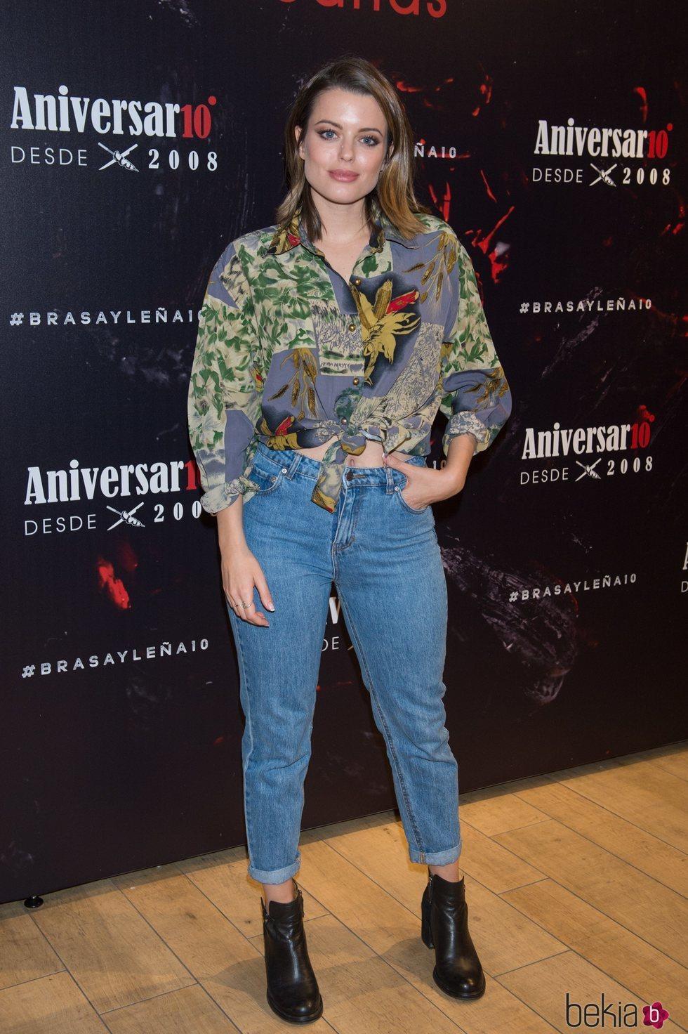 Adriana Torrebejano en el aniversario del restaurante Brasayleña