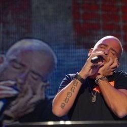 Eros Ramazzotti durante un concierto en Madrid
