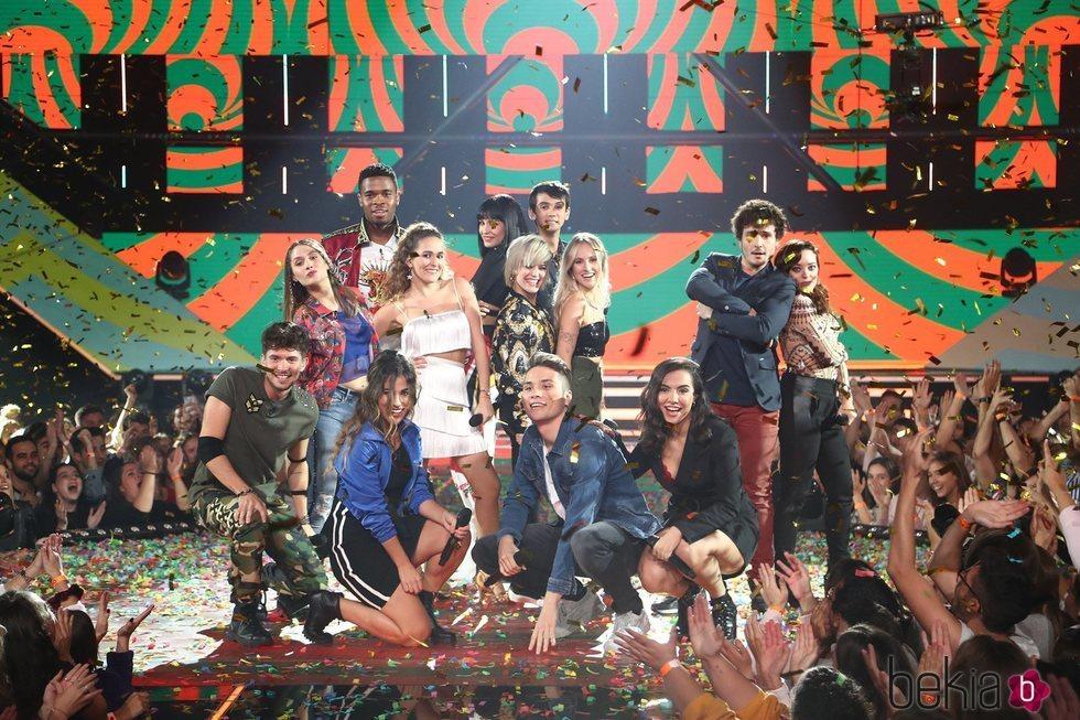 Los concursantes de 'OT 2018' durante la canción grupal de la Gala 5