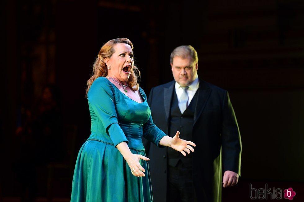 Emily Magee y Stuart Skelton actuando en la gala por el 70 cumpleaños del Príncipe Carlos de Inglaterra