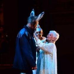 Judi Dench actuando en la gala por el 70 cumpleaños del Príncipe Carlos de Inglaterra