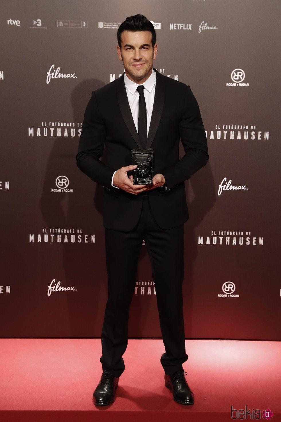 Mario Casas en el estreno de la película 'El fotógrafo de Mauthausen'