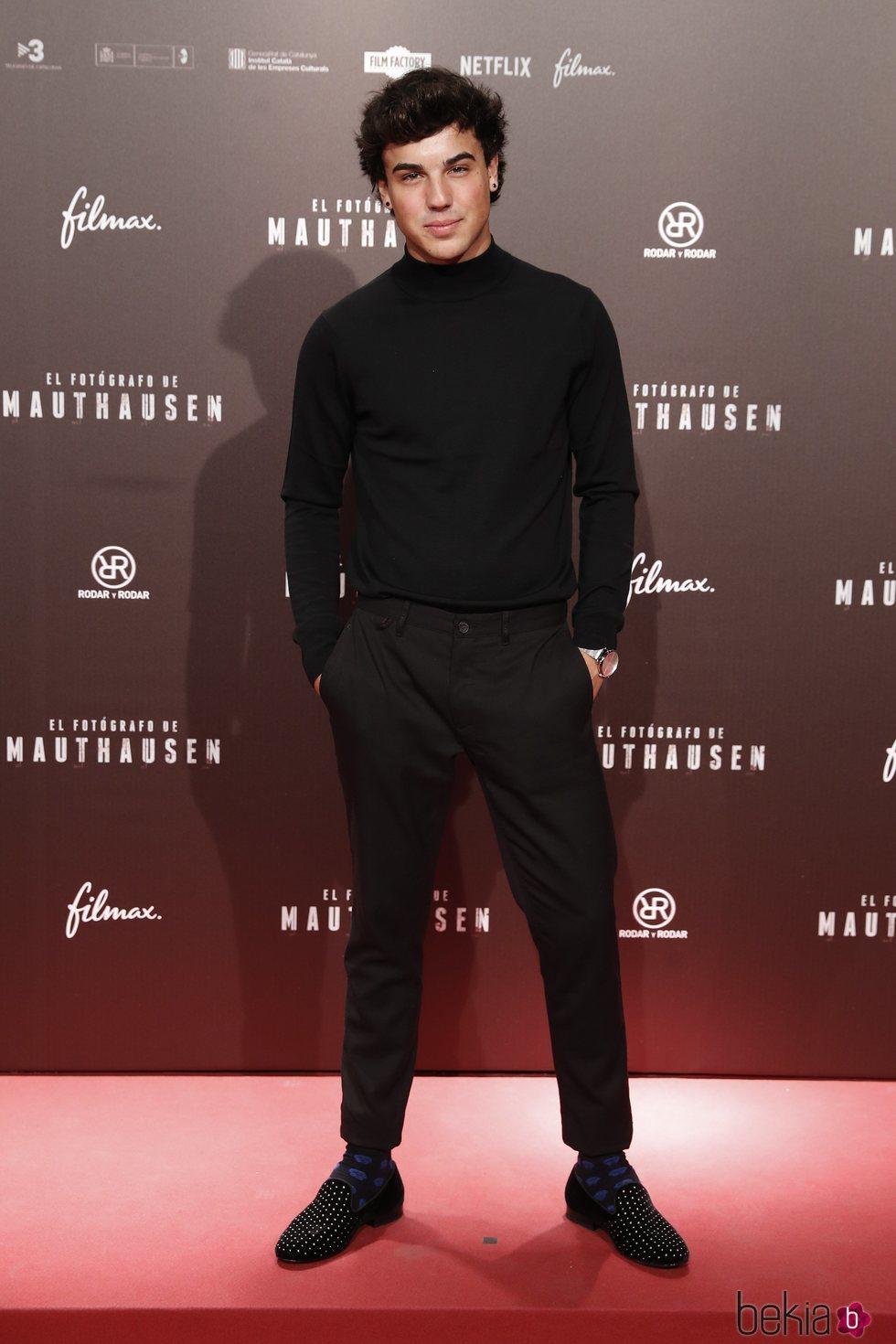 Óscar Casas en el estreno de la película 'El fotógrafo de Mauthausen'