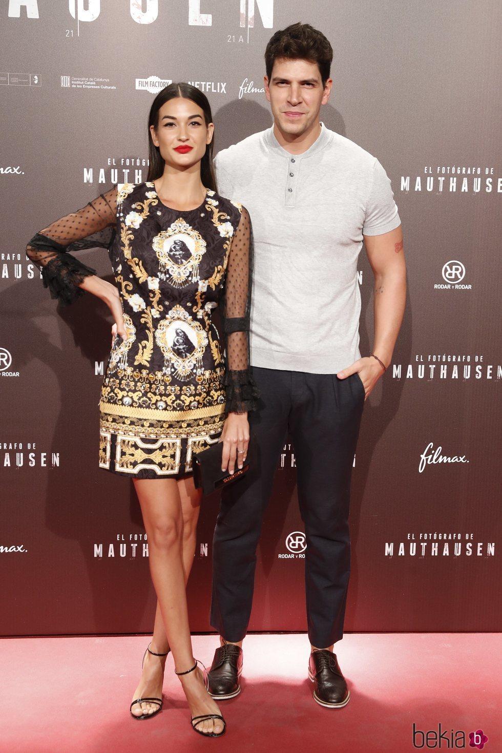 Diego Matamoros y Estela Grande en el estreno de la película 'El fotógrafo de Mauthausen'