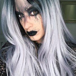 Dulceida maquillada para la fiesta de Halloween de 2018