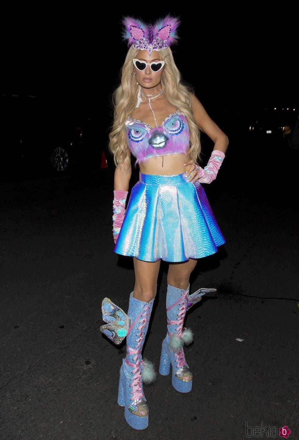 Paris Hilton durante la fiesta de Halloween en Casamigos
