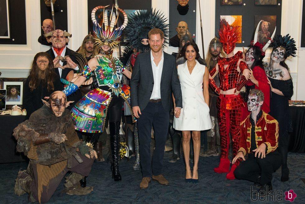 Los Duques de Sussex visitan el Courtenay Creative en Wellington