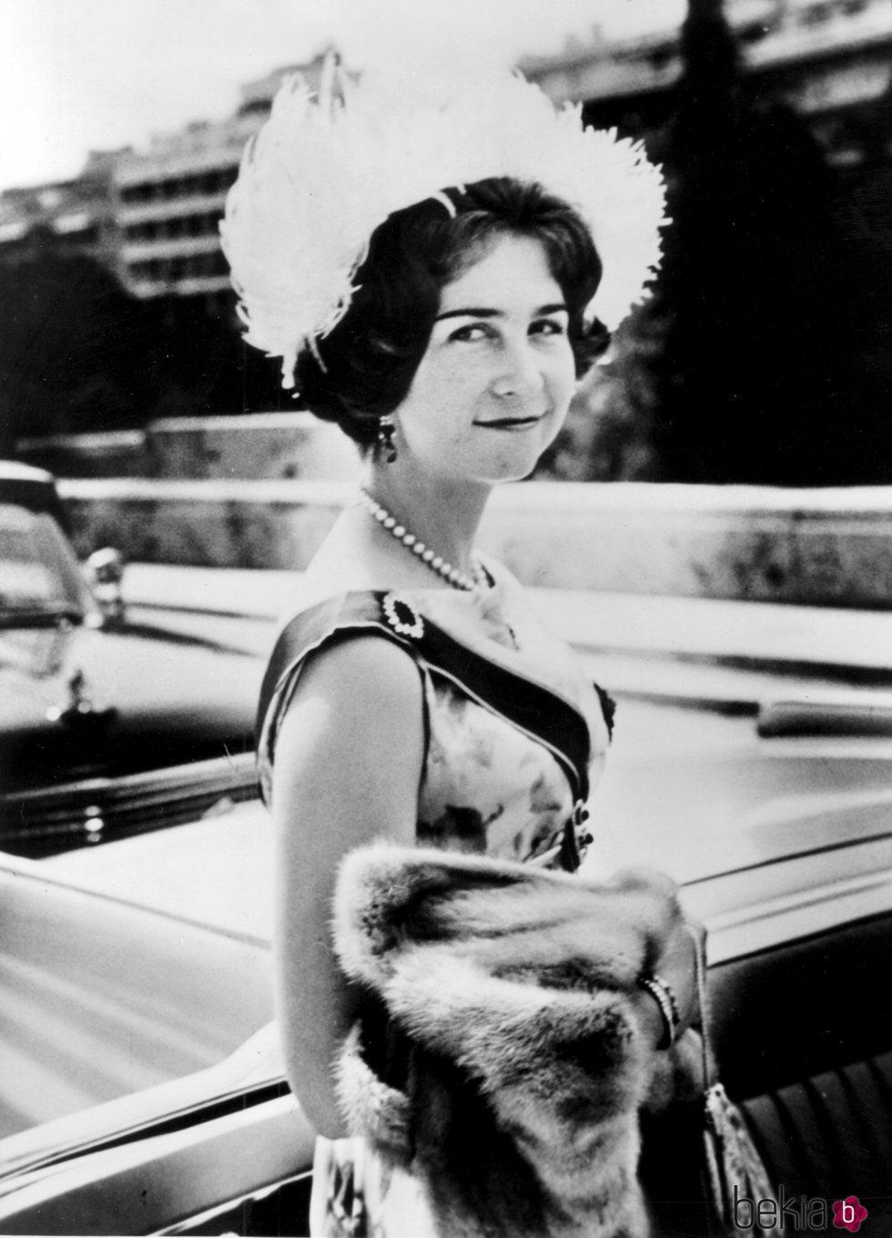 La Reina Sofía de joven