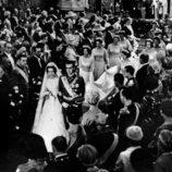 Los Reyes Juan Carlos y Sofía en su boda