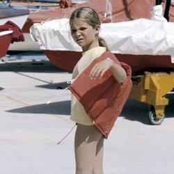 La Infanta Elena cuando era pequeña en Mallorca