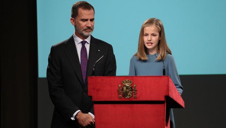 La Princesa Leonor en su primera intervención pública en el día de su 13 cumpleaños
