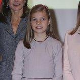 La Infanta Sofía en la lectura de la Constitución Española