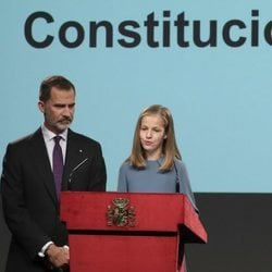 La Princesa Leonor lee el Artículo I de la Constitución Española