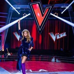 Paulina Rubio en la presentación de 'La Voz'