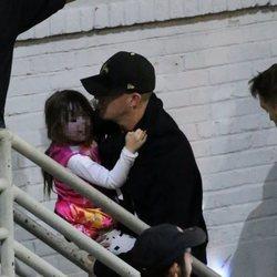 Channing Tatum y su hija a la salida de un concierto de Jessie J
