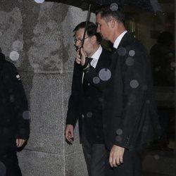 Mariano Rajoy en el funeral de su padre
