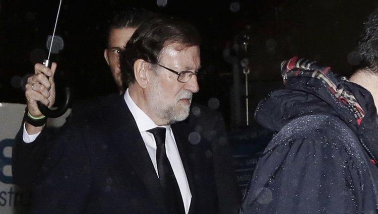 Mariano Rajoy a la salida del funeral de su padre