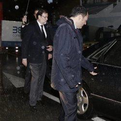 Mariano Rajoy tras el funeral de su padre