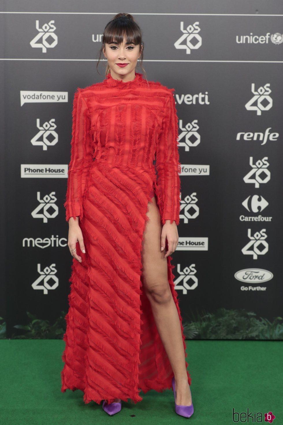 Aitana en la alfombra roja de los 40 Music Awards 2018