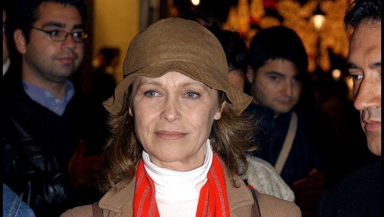 Marisol durante una manifestacion