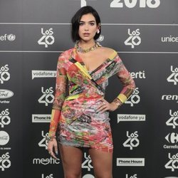 Dua Lipa en Los 40 Music Awards 2018