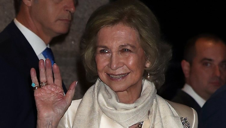 La Reina Sofía en el concierto celebrado en su honor por su 80 cumpleaños