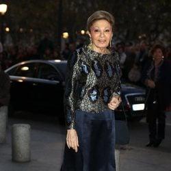 Farah Diva en el concierto por el 80 cumpleaños de la Reina Sofía