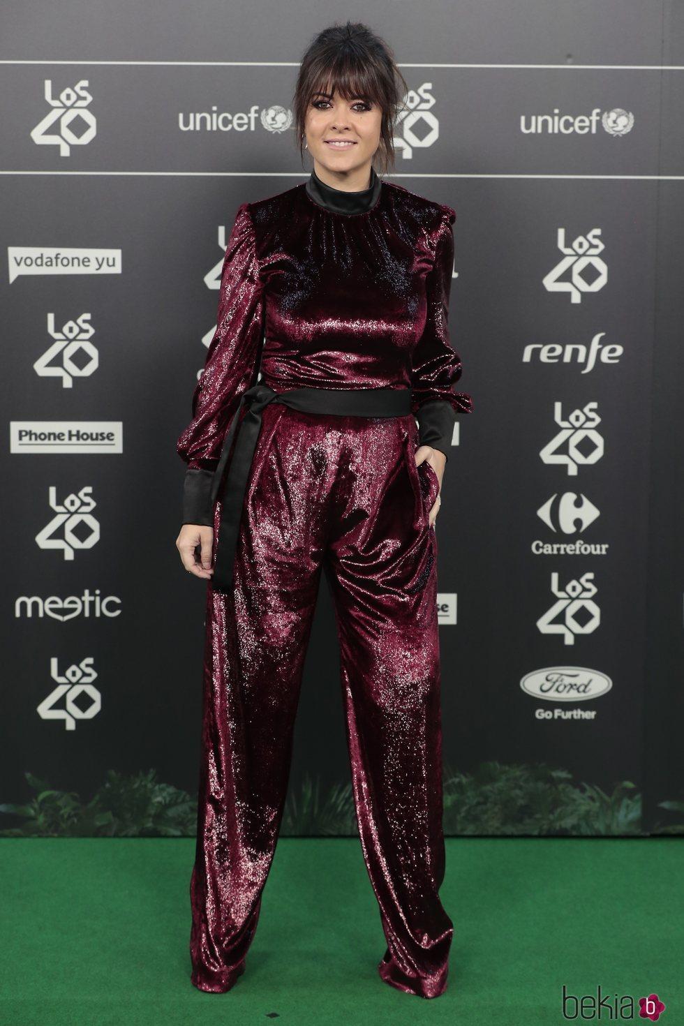 Vanesa Matín en Los 40 Music Awards 2018